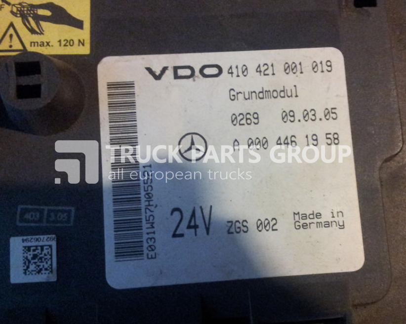 MERCEDES-BENZ Actros MP2, MP3 GM unit, Grundmodul, Fuse box, central  electric fuse block for MERCEDES-BENZ Actros MP2, MP3 tractor unit - Truck  Parts GroupTruck Parts Group